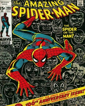 Plagát MARVEL - spider-man cover