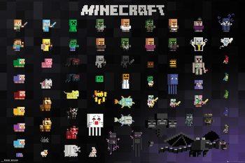 Plagát Minecraft - Pixel Sprites