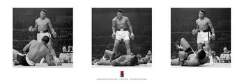 Plagát Muhammad Ali vs. Sonny Liston - triptych