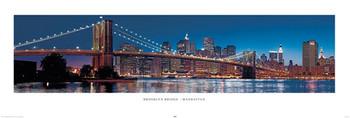 Plagát New York - Brooklyn bridge