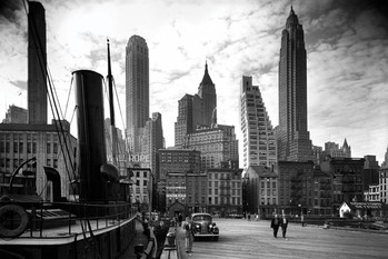 Plagát New York - city pier 1937
