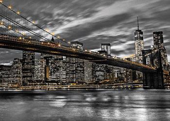 Plagát New York - Manhattan, Assaf Fank