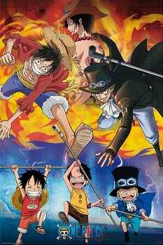Plagát One Piece - Ace Sabo Luffy