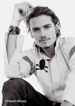 Plagát Orlando Bloom - b&w