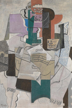 Plagát Picasso - Fruit Dish, Bottle and Violin