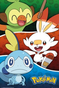Plagát Pokemon - Galar Starters