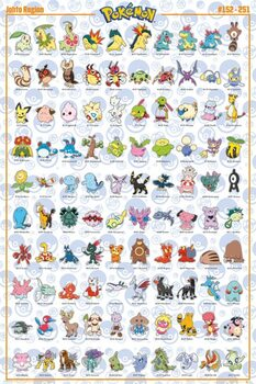 Plagát Pokemon - Johto Pokemon