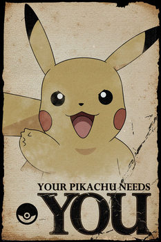 Plagát  Pokemon - Pikachu Needs You