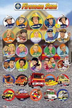 Plagát Požiarnik Sam - Characters