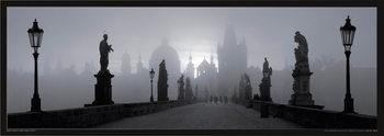 Plagát Prague – Charles bridge / b&w