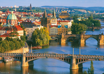 Plagát Prague – Prague bridges
