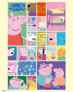 Plagát Prasiatko Peppa (Peppa Pig) - Grid
