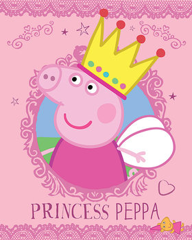 Plagát Prasiatko Peppa - Princess Peppa