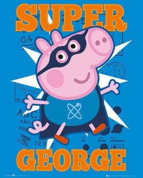 Plagát Prasiatko Peppa - Super George