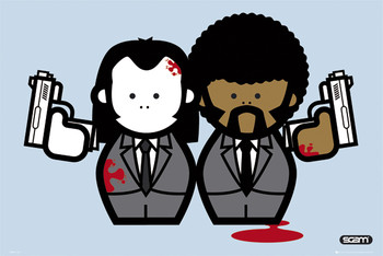 Plagát Pulp fiction - gangstas / vincent & jules
