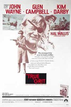 Plagát  Skutočná guráž - John Wayne, Glen Campbell, Kim Darby