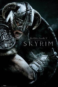 Plagát Skyrim - Attack