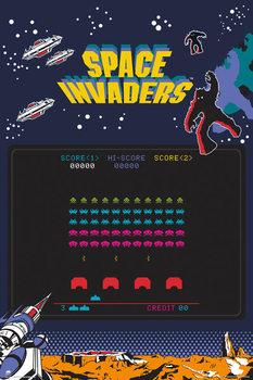 Plagát Space Invaders - Screen
