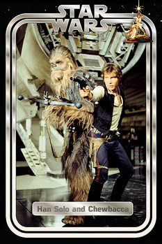 Plagát  Star Wars Classic - Han and Chewie Retro