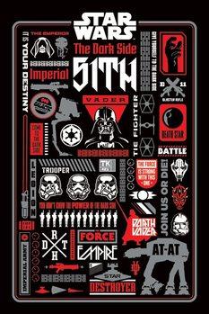 Plagát Star Wars -  Dark Side Icongraphic
