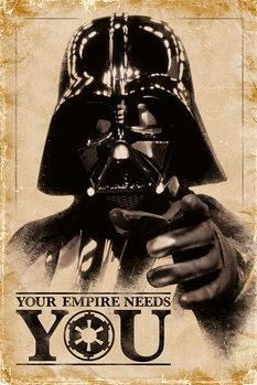 Plagát STAR WARS - empire needs you