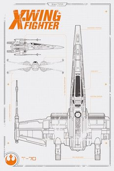 Plagát Star Wars : Epizóda VII - X Wing Plans
