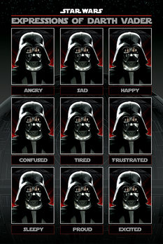 Plagát Star Wars - Expressions of Darth Vader