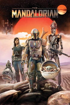 Plagát Star Wars - The Mandalorian - Group