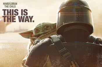 Plagát Star Wars: The Mandalorian - Mando & The Child