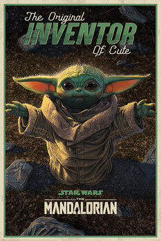 Plagát Star Wars: The Mandalorian - The Original Inventor of Cute