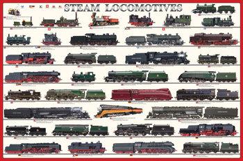 Plagát Steam locomotives