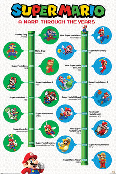 Plagát Super Mario - A Warp Through The Years