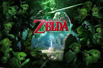 Plagát The Legend of Zelda - Link