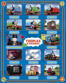Plagát THOMAS AND FRIENDS - characters