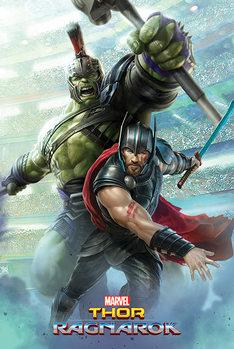 Plagát  Thor: Ragnarok - Thor And Hulk