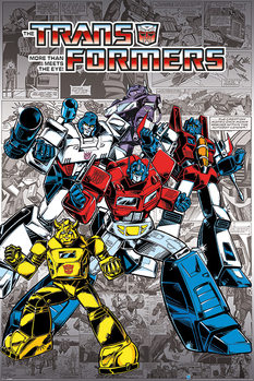 Plagát Transformers G1 - Retro Comics