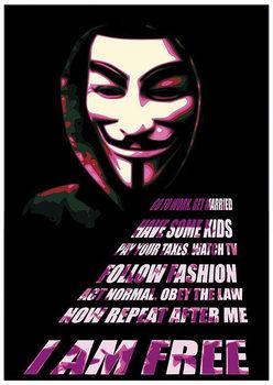 Plagát V ako Vendeta - Mask