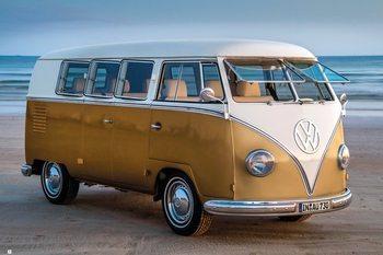 Plagát Volkswagen - Brendan Ray Gold Kombi III