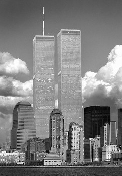 Plagát World trade centre - b&w