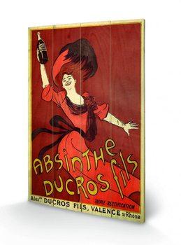 Absinthe Ducros plakát fatáblán