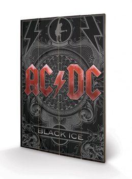 AC-DC - Black Ice plakát fatáblán