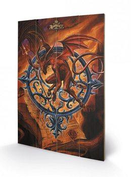 ALCHEMY - astrolabeus plakát fatáblán