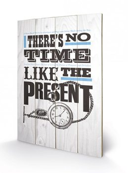 Asintended - No Time Like The Present plakát fatáblán