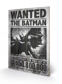 Batman Arkham Origins - Wanted plakát fatáblán