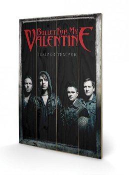 Bullet For My Valentine - Group plakát fatáblán