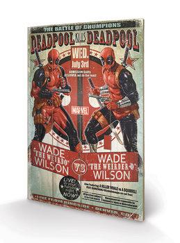 Deadpool - Wade vs Wade plakát fatáblán