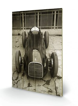 Ferrari F1 - Vinatge 125  plakát fatáblán