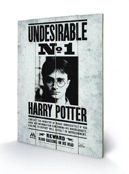 Harry Potter - Undesirable No1 plakát fatáblán