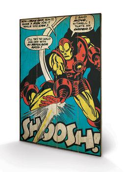 Iron Man - Shoosh plakát fatáblán