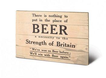 IWM - beer plakát fatáblán